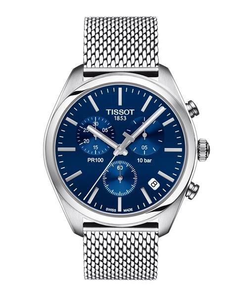 TISSOT PR 100 Chronograph silber/blau T1014171104100  Herrenuhr Herrenuhren