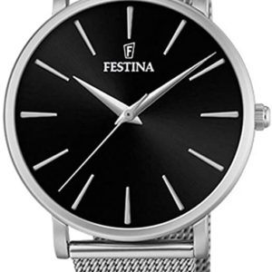 Festina Damen Analog Quarz Uhr mit Edelstahl Armband F20475/4 Festina