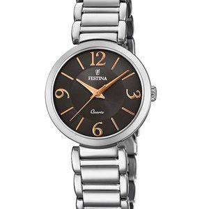Festina Damen Analog Quarz Uhr mit Edelstahl Armband F20212/2 Damenuhren