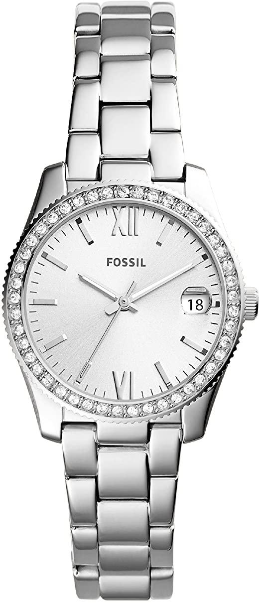 Fossil Damen Analog Quarz Uhr mit Edelstahl Armband ES4317 Fossil