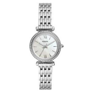 Fossil Damen Analog Quartz Uhr mit Edelstahl Armband ES4647 Damenuhren
